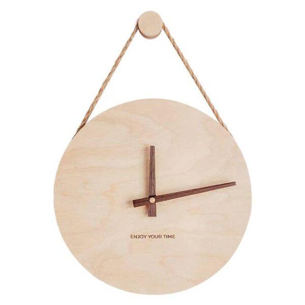 Horloge en Bois avec Corde