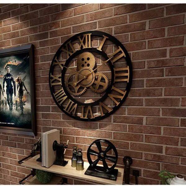 Horloge en Or Chiffres Romains - Vintage