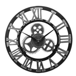 Horloge en Argent Chiffres Romains - Vintage